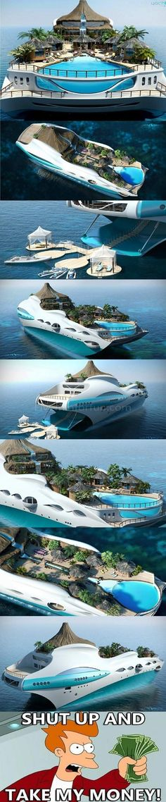I really want to go for a cruise on this ship.