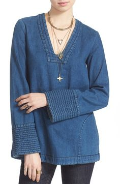 Free People 'Dreaming of Denim' Tunic Top available at #Nordstrom