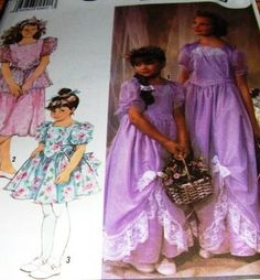 This is a sewing pattern from Simplicity, no. 7082.  It is for a child's dress in three lengths.