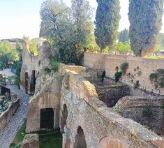 Ancient Roman ruins, present day Rome