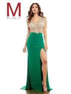 Emerald Prom Dress | Mac Duggal 40540A