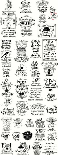 Sayings. Big SVG Bundle with over 100 cut files! Camping, Summer, Parenting, Mom Life/Motherhood, Coffee and so many more! SVG cut files for use with Cricut and Silhouette machines! Vinyl Crafts, Vinyl Projects, Trotec Laser, Cricut Vinyl, Vinyl Decals, Cricut Air, Svg Files For Cricut, Camping Signs, Diy Camping