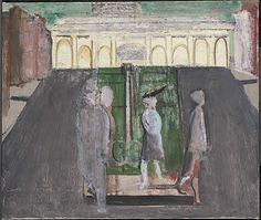 // mark rothko. 'four figures in a plaza'. oil on canvas. date unknown.