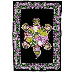 Psychedelic Turtle Tapestry on Sale for $24.95 at HippieShop.com