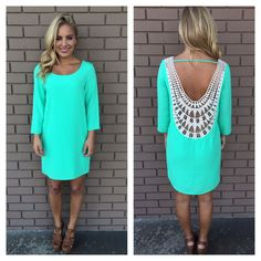 Mint Embroidered Baby Got Back Dress | Dainty Hooligan Boutique