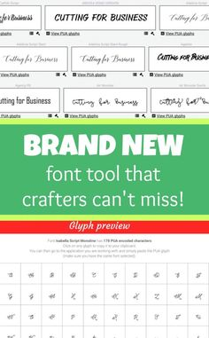 Introducing Fontcloud - An awesome tool for font lovers, Silhouette Cameo and Cricut Explore crafters, and designers. Tutorial by cuttingforbusiness.com.