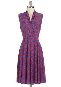 Paris? Oui! Dress in Fleurs | Mod Retro Vintage Dresses | ModCloth.com