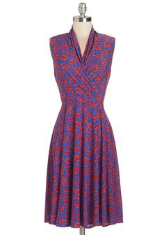 Paris? Oui! Dress in Fleurs | Mod Retro Vintage Dresses | ModCloth.com