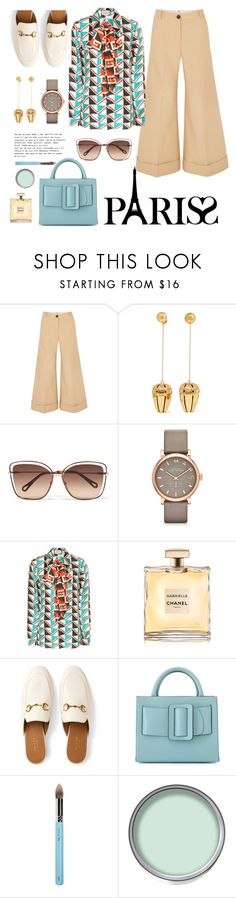 """P ❤️ R I S"" by giotibi ❤ liked on Polyvore featuring Khaite, E L L E R Y, Chloé, Marc by Marc Jacobs, Gucci, Chanel, Boyy, My Kit Co., parisfashionweek and Packandgo"