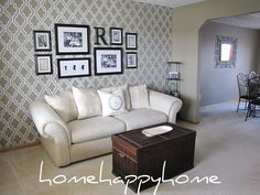 home happy home: Living room gallery wall