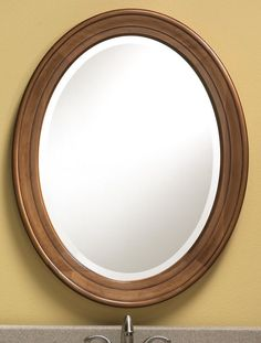 803 Oval Mirror Features A Solid Maple Frame With An Antique Honey Finish Hand