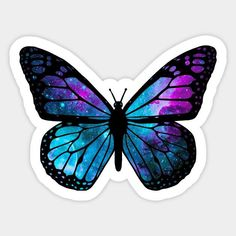 Shop Galactic Butterfly butterfly stickers designed by ARTWORKandBEYOND as well as other butterfly merchandise at TeePublic. Butterfly Gif, Butterfly Background, Butterfly Quotes, Butterfly Drawing, Butterfly Painting, Butterfly Wallpaper, Blue Butterfly, Tumblr Stickers, Phone Stickers