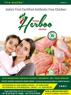 Herboo Chicken - India's first  Antibiotic free certified chicken
