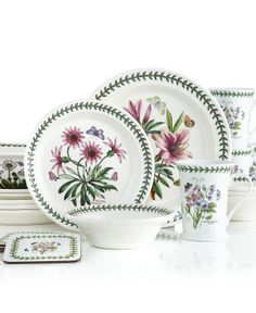Portmeirion Botanic Garden 21-Piece Set - Casual Dinnerware - Dining & Entertaining - Macy's