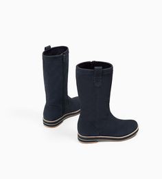Image 5 of LEATHER BOOTS WITH TRACK SOLE from Zara