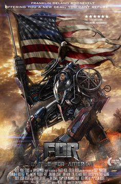 FDR Battle for America Poster by SharpWriter @ deviantart.com