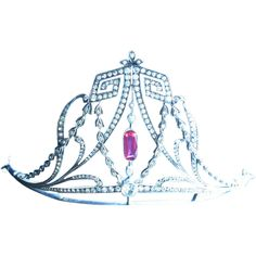Regal Edwardian Silver and Paste Tiara