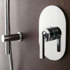 Treemme | Unterputzmischer Cut für Badewannen und Duschen | Design: Giancarlo Vegni | verschiedene Oberflächen wählbar