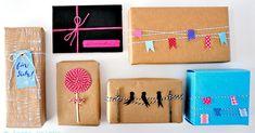 Geschenke mit Bäckersgarn - sechs Varianten Geschenkverpackungen, leichtes DIY