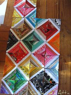 Process of string quilt-LOVE it!