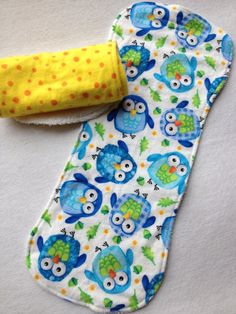 Baby boy gift idea: Burp Cloths for baby  Set of 2 little owls cotton by TeddyBoyStyle