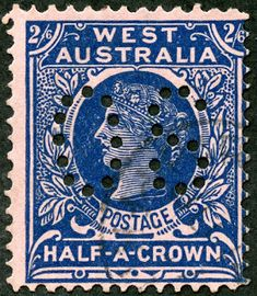 "Western Australia 1902 Scott 85 dark blue/rose ""Victoria"" Wmk Perf ""Official"": ""O S"" Perforated Rare Stamps, Western Australia, Postage Stamps, Westerns, Victorian, History, Classic, Dark Blue, Events"