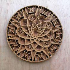 Chip Carving, Wood Carving, Laser Cut Wood, Laser Cutting, Wood Sculpture, Sculptures, 3d Cuts, Mandalas Painting, Grid Design