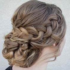 Gorgeous updo wedding hairstyles,chic updo hairstyle ideas,bridal updo hairstyles,braided updo hairstyles,updos #CrownBraidTwisted