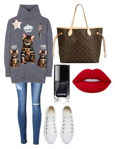 """""""Xxx"""" by macie-miller-1 on Polyvore featuring Dolce&Gabbana, Converse, Louis Vuitton, Lime Crime, men's fashion and menswear"""