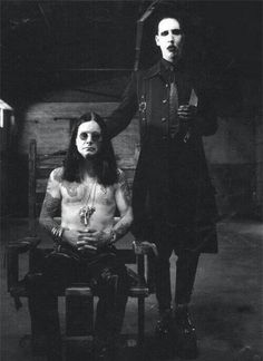 Marilyn Manson and Ozzy Osbourne. Too much awesome in one picture!