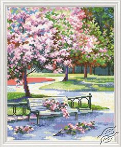 Spring In The Park - Cross Stitch Kits by RTO - M486