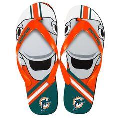 Miami Dolphins NFL Mascot Flip Flops