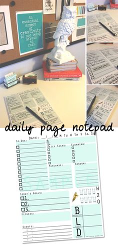 Daily Page Notepad.