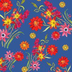 Indigo floral - Kenya Dias watercolor