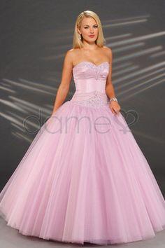 Ballkleid Mitte Rücken Tüll volle länge glamouröses & dramatisches aufgeblähtes dünnes Quinceanera Kleid