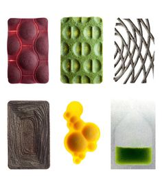 Some samples of edible material explorations
