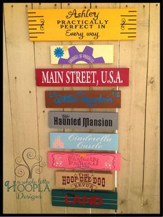 Disney Favorites Custom Wooden Signs by A Whole Lotta Hoopla