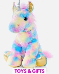 Justice is your one-stop-shop for on-trend styles in tween girls clothing & accessories. Shop our Pastel Rainbow Unicorn Plush. Unicorn Stuffed Animal, Cute Stuffed Animals, Toy Unicorn, Unicorn Logo, Unicorn Room Decor, Unicorn Bedroom, Rainbow Unicorn, Unicorn Party, Unicorn Store