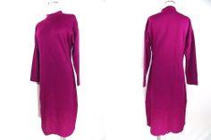 VINTAGE 80s Sweater Dress Sz M Deadstock Wool Bodycon Italy Franca Moretti VIP's