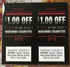 Free Coupons Online, Marlboro Coupons, Cigarette Coupons Free Printable, Malboro, Marlboro Cigarette, Gift Cards, Camel, Gifts, Gift Vouchers