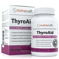#1 Thyroid Supplement to Support Symptoms of An Underactive Thyroid Gland – Natural Herbal Formula For Low Thyroid Function With L-Tyrosine, Kelp (Iodine), Ashwaganda (Withania), Selenium, B-12 and Vitamin D to Support a Healthy Metabolism, Reduce Fatigue, Promote Weight Loss and Increase Energy – 60 Capsules – 100% MONEY BACK GUARANTEE