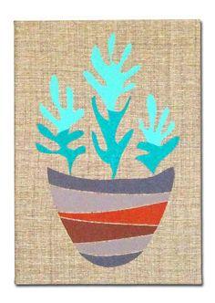 "Embroidered Artwork, Wall Hanging - ""Desert Still Life"""