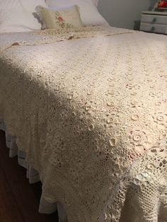 A personal favorite from my Etsy shop https://www.etsy.com/listing/504802336/gorgeous-crocheted-bedspread-vintage