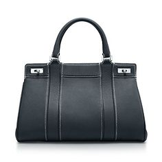 Tiffany & Co.   Item   Genevieve satchel in onyx grain leather. More colors available.   United States