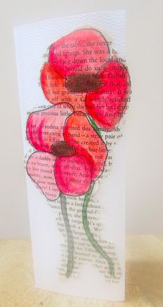 Craft Ideas for Kids - Watercolour Poppy Remembrance Day Card