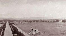 Paseo de la Reforma vista desde el Angel en 1909
