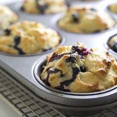 Vegan Blueberry-Lemon Muffins - Healthy Muffin Recipes - Health Mobile