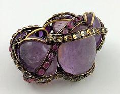 Iradj Moini Vintage Amethyst, Peridot  & Citrine Bracelet