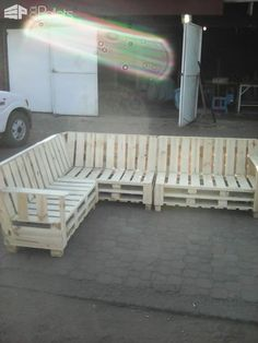 Pallet Sectional Sofa Pallet Benches, Pallet Chairs & Stools Pallet Sofas