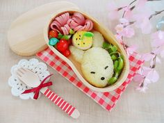 ✿´¨).•. Little Eclair breakfast today  :) Lovely bento box! Feel its from is as cute as a little fox,so I put them together. :)